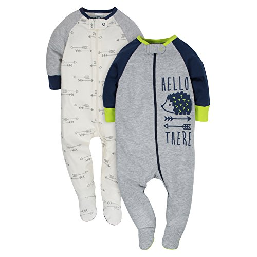 Gerber Baby Boys' 2-Pack Sleep 'N Play, Hedgehog, 3-6 Months -