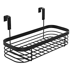 Cabinet Door Organizers Lilimpact Over the Cabinet Kitchen Storage Organizer Tray for Sponges, Scrubbers, Brushes (Black) cabinet door organizers