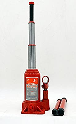 BAOSHISHAN 2 Ton Two-Section Bottle Jack Hydraulic Portable LiftingJack with Carrying Case 365mm/14.3in 2.2kg