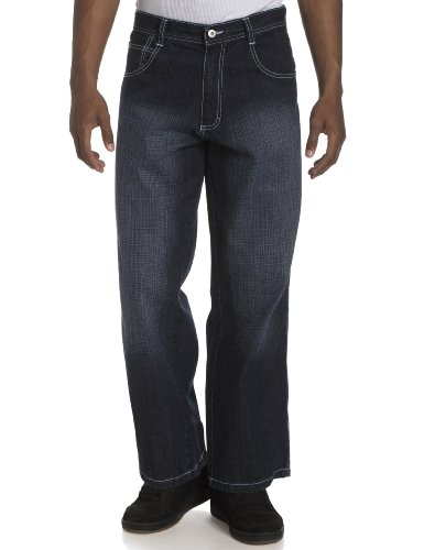 Southpole Men's Relaxed Fit Core Jean, Dark Sand Blue, 32X30
