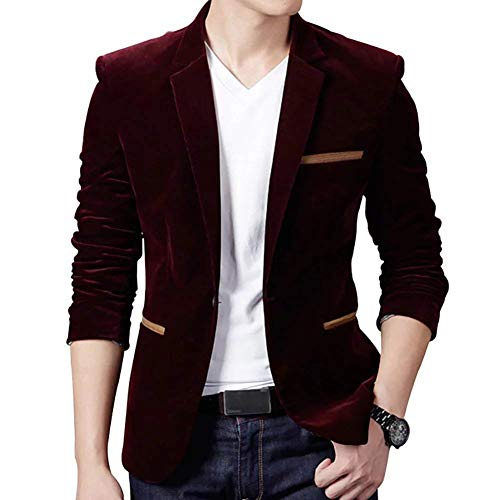 Longues 1 Essentiel Blazer Casual Revers Automne Hommes Knop Winered Costume Fit Business Printemps Mode Vestes Manches Slim Loisirs 0qBR4wH