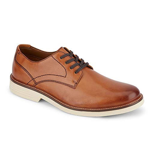 Dockers Mens Parkway Leather Dress Casual Oxford Shoe with NeverWet, Butterscotch, 13 M