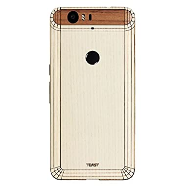 TOAST- Real Wood, Ash Cover with Walnut Visor for Nexus 6P