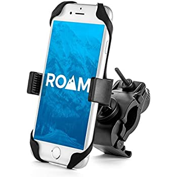 SpoLite Chrome Bike Phone Mount for Motorcycle-Bike-Bicycle Handlebars,Adjustable,Bike Phone Holder Fits Cell Phone iPhone X,8 8 Plus,7 7 Plus,6s 6s Plus,Galaxy S7,S6 for Cycling