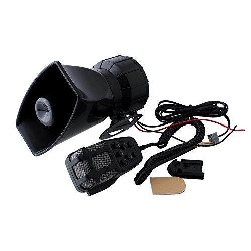 Sedeta 5 tones ambulance car siren speaker Electric horn PA System 12V Warning Loud Megaphone with Mic Auto 80W - Megaphone Car