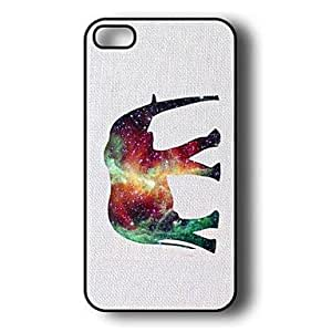 TY-Patrón de elefante de plástico duro caso para iPhone 5/5S