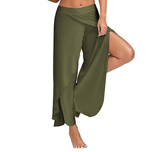 Monocromo Costume Femminile Lannister Verde Eleganti Donna Dark Pantaloni Fashion Pantaloni Libero Tempo Pantalone Yoga Pantaloni Palazzo Chiffon Gonna Pantaloni Estivi Baggy Spacco P6rPqwH