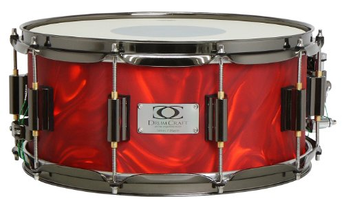 Drum Craft Series 7 DC837074 Maple 12 x 6 Inches Snare Drum, Liquid Lava by Drum Craft