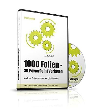 1000 Folien - 3D PowerPoint Vorlagen - Farbe: fresh.green (2016 ...