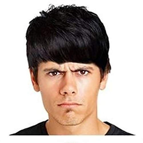 Weiweidian Handsome Classic Fashion Gentlemen Straight No Lace Front Wigs For Daily -