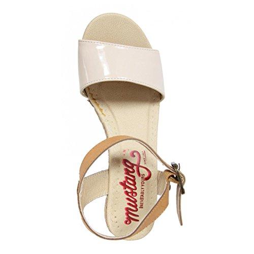 Sandalias de Mujer MTNG 55639 BELLABE BEIGE-CUERO