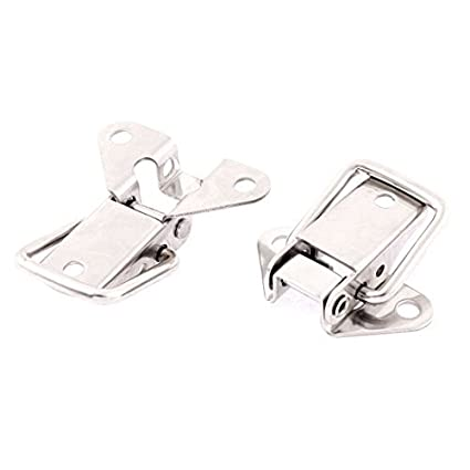 Caso Maleta eDealMax caja de bloqueo Toggle Latch 2pcs tono de plata - - Amazon.com