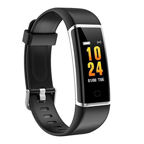 moreFit Fitness Tracker, Solo Waterproof Exercise Watch Active Sleep Alarm Monitors Pedometers for Walking, Steps Miles Calories GPS Counter, Smart Wristband Bracelet for Women Kids Men (Black)