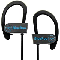 Bluetooth Headphones Wireless Earphones with Mic IPX7 Waterproof Sweatproof HD Stereo Sound Noise Cancelling Earbuds for Workout Running Gym Indoor Outdoor Lightweight Headsets for Sports 8H Battery