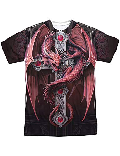 Gothic Guardian Dragon Wrapped Around an Unholy Cross ()