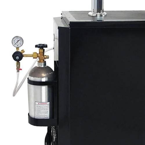 Edgestar Ultra Low Temp Home Brew Dual Tap Kegerator with Kegs - Black and Stainless Steel