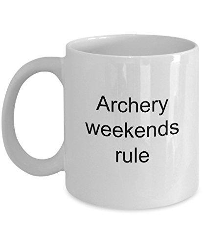 Archer Coffee Mug Archery Weekends Rule Funny Birthday Gift