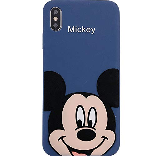 online store 238ad 06f78 Ultra Thick Soft Silicone Blue Mickey Mouse Case for Apple iPhone XR  iPhoneXR Cartoon Walt Disney Disneyland Anime Classic Classic Vintage Cute  Lovely ...