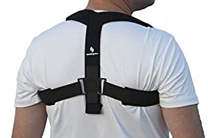 StabilityAce Upper Back Posture Corrector Brace and Clavicle Support for Fractures, Sprains, and Shoulders (Medium)
