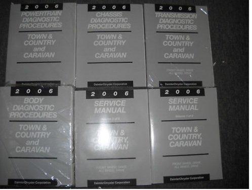 - 2006 DODGE CARAVAN MINI VAN Service Shop Repair Manual Set FACTORY BOOKS (2 volume set, and the body/chassis/powertrain/transmission diagnostics procedures manual.)