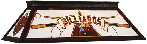 RAM Gameroom Products Billiards Stained Glass Billiard Light - 44W in. by RAM Gameroom