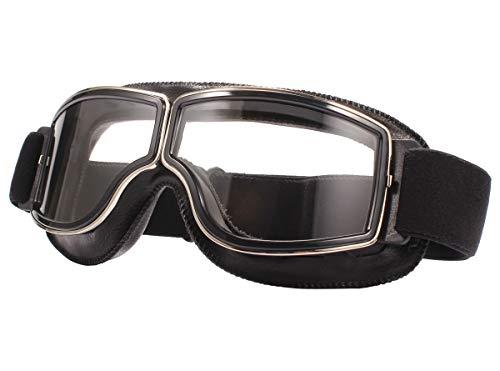 TYSKL Retro Pilot Motorcycle Goggles Fog-proof Warm Goggles ATV Bike