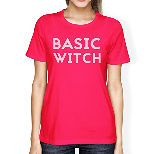 365 Printing Basic Witch Womens Cute Halloween Costume Tshirt Hot Pink (Hot Zombie Costume Ideas)