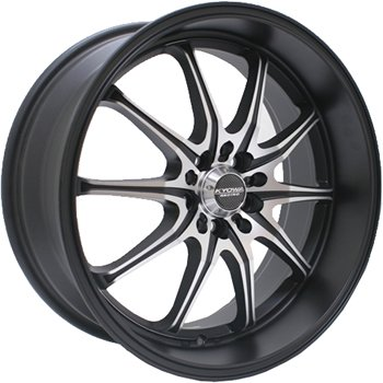 Kyowa Racing 656A Trek 10 Black Wheel wi - Toyota Celica Alloy Wheels Shopping Results