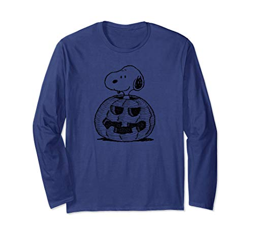 Peanuts Halloween Snoopy Jack-O-Lantern Long Sleeve T-Shirt -