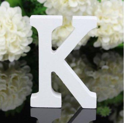 A-shaped9 Jellbaby Adornos de letras de madera decorados para boda 8 cm