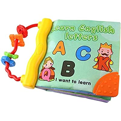 Baby Toy Soft Cloth Books Rustle Sound Infant Educational Stroller Rattle Toys: Home & Kitchen