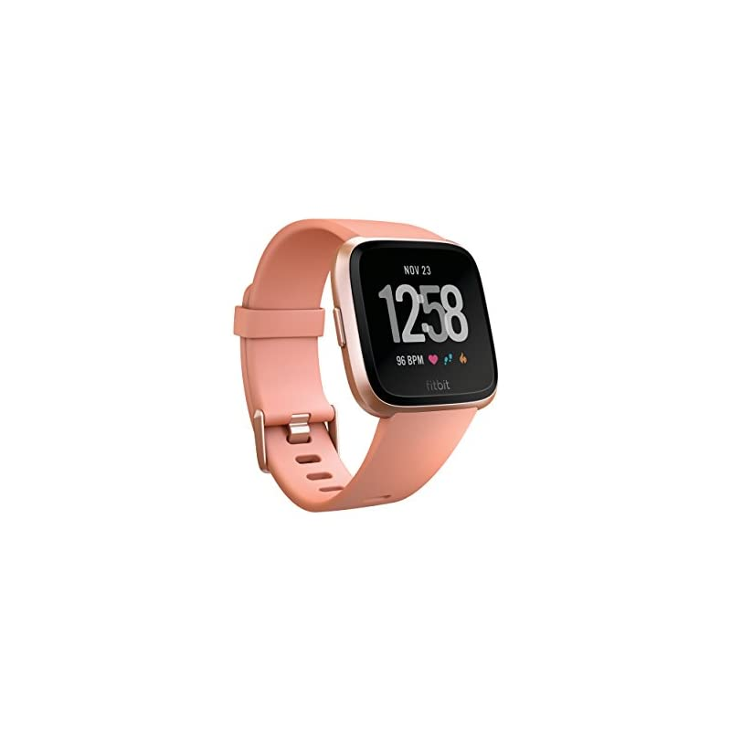 Fitbit Versa Smart Watch, Peach/Rose Gol