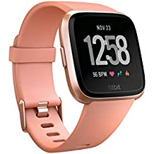 Fitbit Versa Smart Watch, Peach/Rose Gold Aluminium, One Size (S & L Bands...