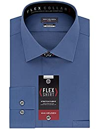 Men's Flex Regular Fit Solid Spread Collar Dress Shirt,...