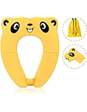 Travel Portable Potty Seat for Kids Non-Slip Foldable Toilet Seat Cover Toddlers Pad with Carry Bag & Splash Guard
