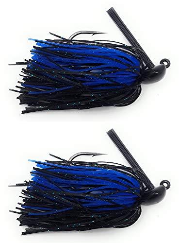 Black Jig - Reaction Tackle Swim Jigs 1/2 oz Black/Blue