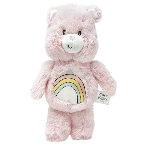 Care Bears Cheer Bear Bean Bag Rattle - Stuffed Animal Plush Toy - Pink -