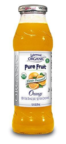 Lakewood Organic PURE Orange Juice, 12.5-Ounce Bottles (Pack of 12)