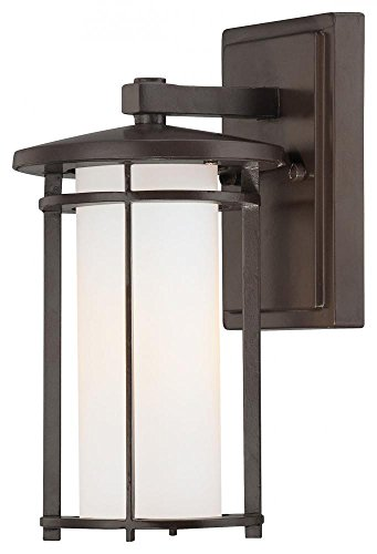 Minka Lavery Outdoor Wall Light 72311-615B Addison Park Aluminum Exterior Wall Lantern, 100w, Bronze