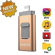 #LightningDeal JIAHCN USB Flash Drive for iPhone iFlash USB Drive for iPhone The Photo Stick for iPhone iPad