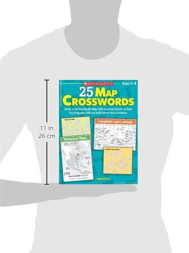 Map Crosswords ReadytoGo Reproducible Maps With Crossword - Us map crosswords scholastic professional books answers
