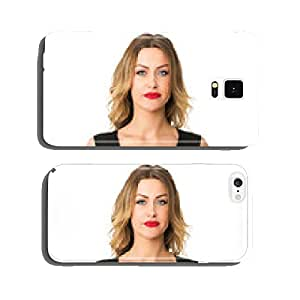 Blonde beauty with two pug dogs cell phone cover case iPhone5