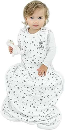 Woolino Toddler Sleeping Sack, 4 Season, Merino Wool, Baby Sleep Bag, 2-4 Years, Stars