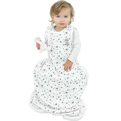 Woolino 4 Season Baby Sleep Bag - Merino Wool - 2 Month - 2 Years - Stars by Woolino