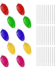 KINBOM 10st Threaders Met 30pcs Naalden, Naaldinrijger Plastic Kit, Hand Naaien Duiminrijger Eenvoudige Threader voor Hand Stitching Huishoudelijk Naaien (5 Kleuren)