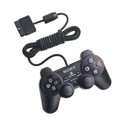 Playstation 2 Dual shock controller Black (Sony Controller Ps2)