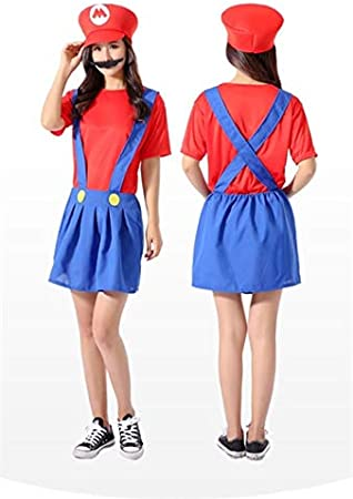 GJBXP Cosplay adultos y niños Super Mario Bros Cosplay traje de ...