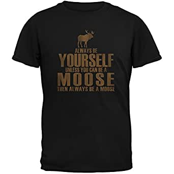 Always Be Yourself Moose Black Youth T-Shirt - Large(14/16)
