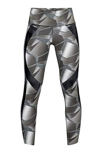 Under Armour Women's Superbase Powerprint Legging printed, Black (001)/Tonal, Large