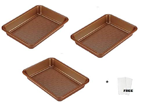 Ayesha Bakeware (9'' x 13'', (no cover), (Pack of 3), Copper) by Ayesha Curry Kitchenware (Image #2)